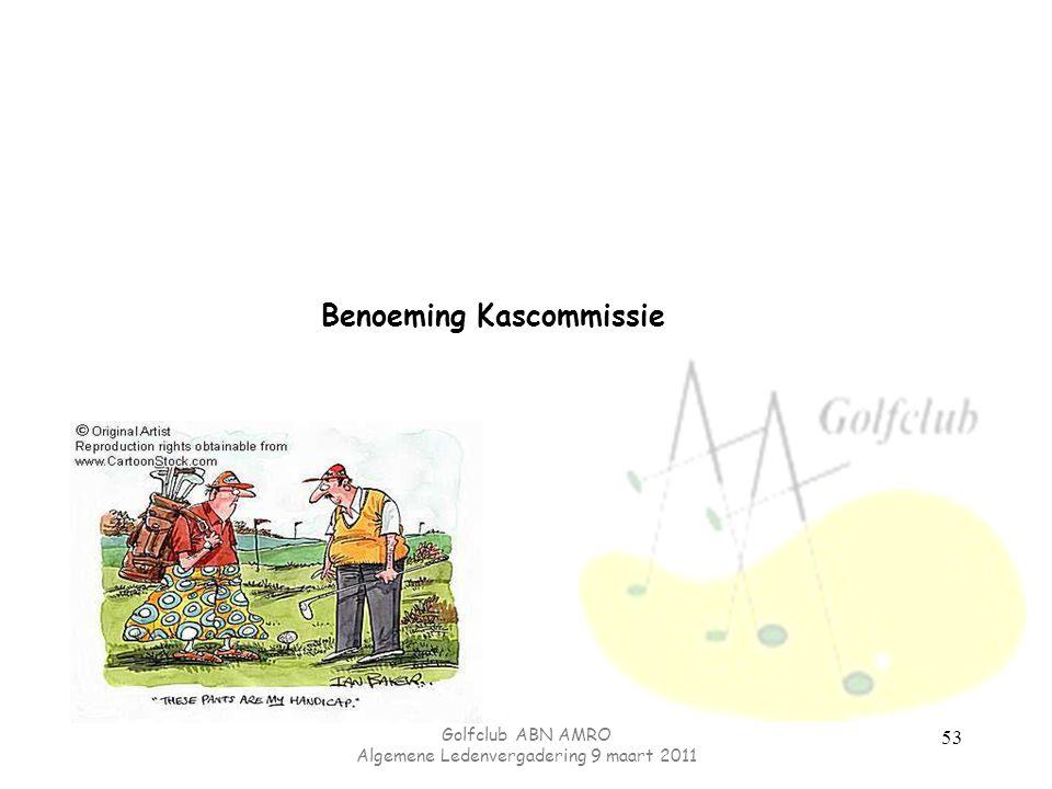 Benoeming Kascommissie