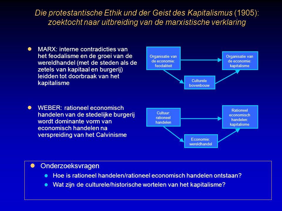 Die protestantische Ethik und der Geist des Kapitalismus (1905): zoektocht naar uitbreiding van de marxistische verklaring