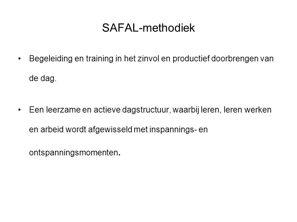 SAFAL-methodiek Begeleiding en training in het zinvol en productief doorbrengen van de dag.