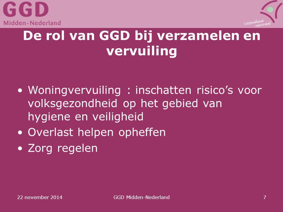 De rol van GGD bij verzamelen en vervuiling