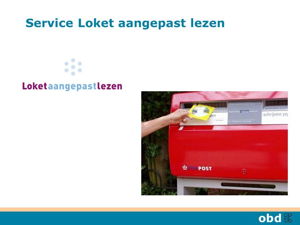 Service Loket aangepast lezen