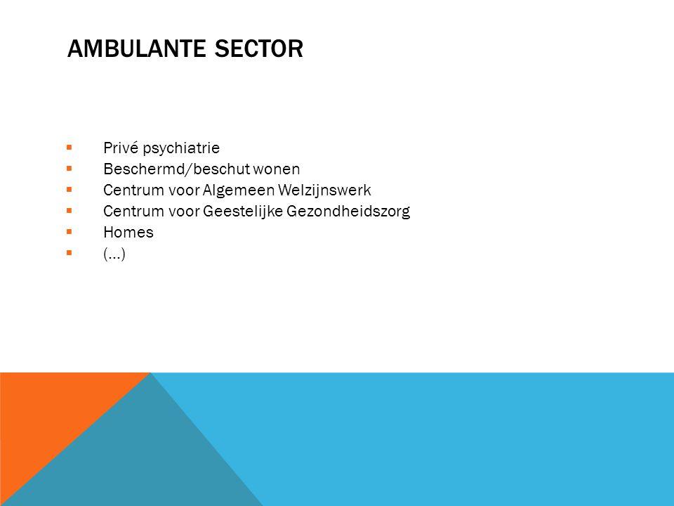 AMBULANTE SECTOR Privé psychiatrie Beschermd/beschut wonen
