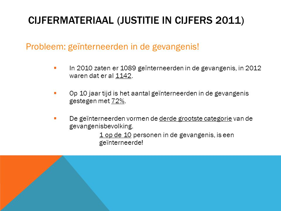 Cijfermateriaal (Justitie in cijfers 2011)
