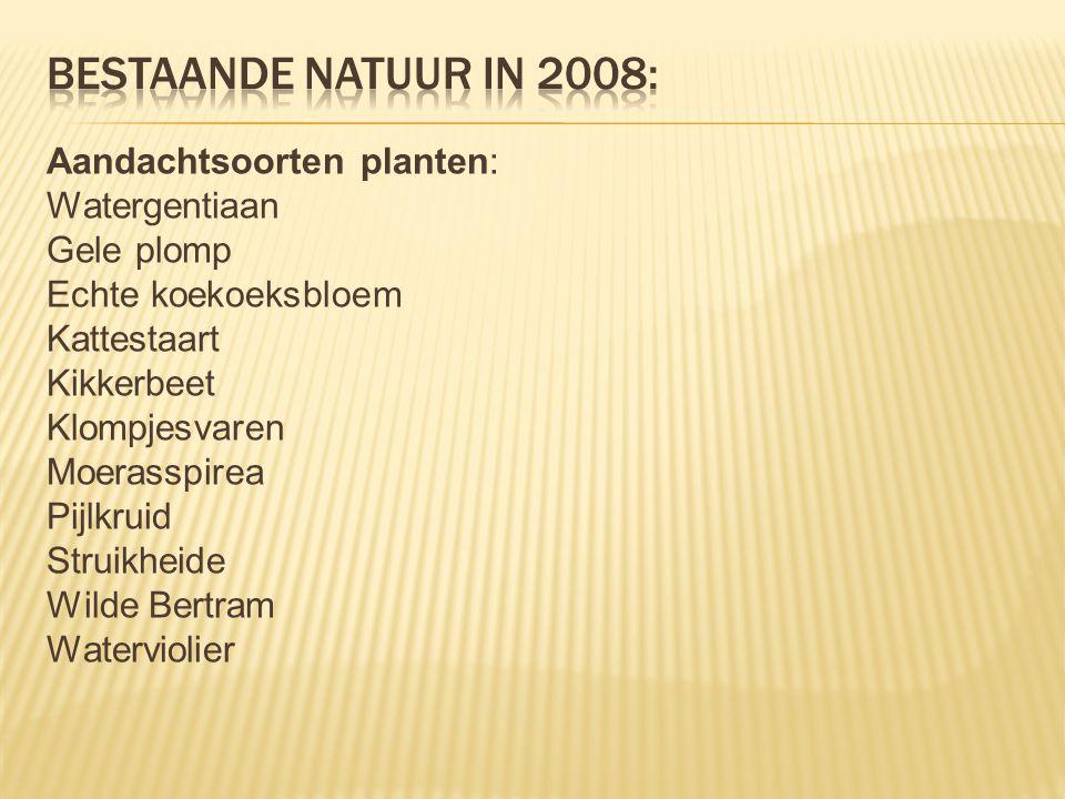 Bestaande natuur in 2008: