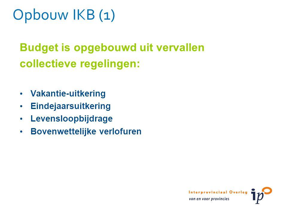 Opbouw IKB (1) Budget is opgebouwd uit vervallen