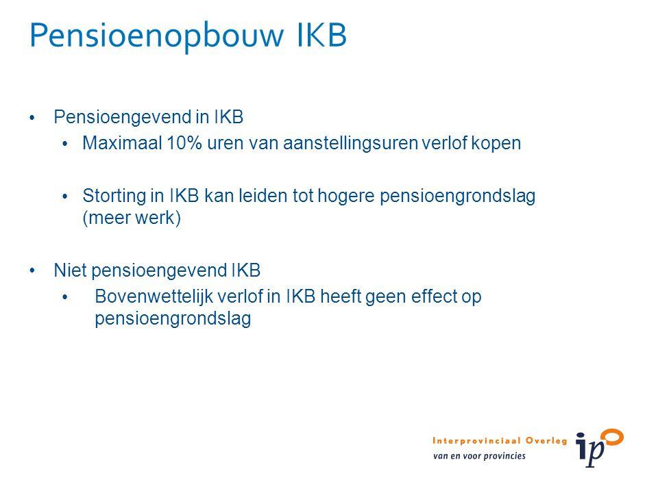 Pensioenopbouw IKB Pensioengevend in IKB