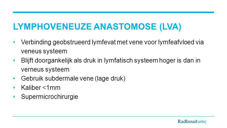 Lymphoveneuze anastomose (LVA)