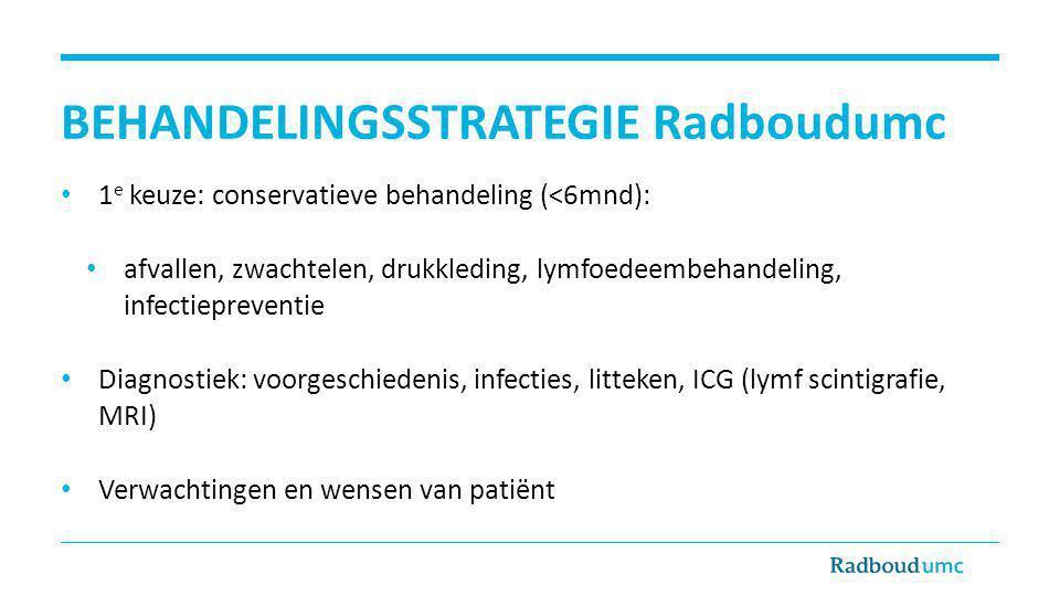 BEHANDELINGSSTRATEGIE Radboudumc