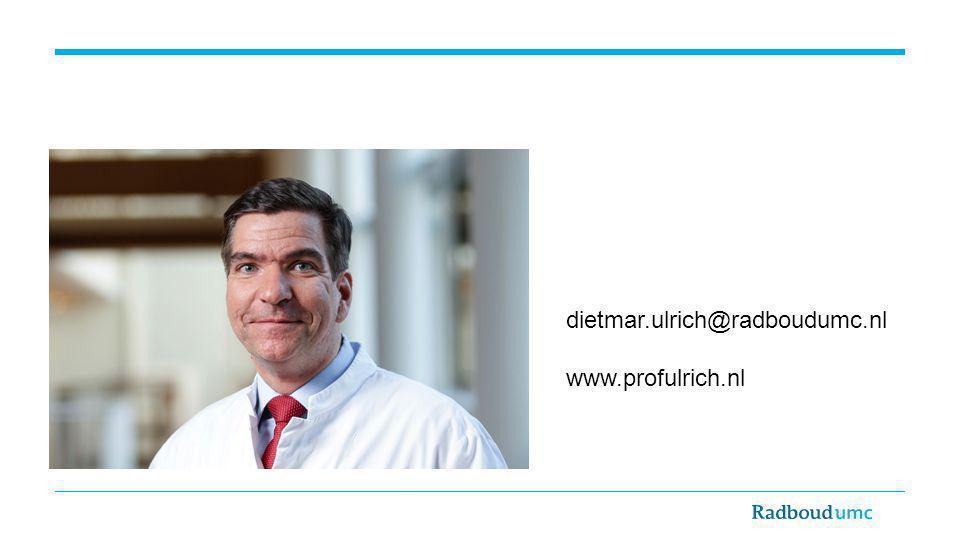 dietmar.ulrich@radboudumc.nl www.profulrich.nl