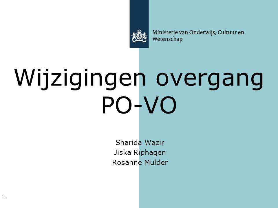 Wijzigingen overgang PO-VO