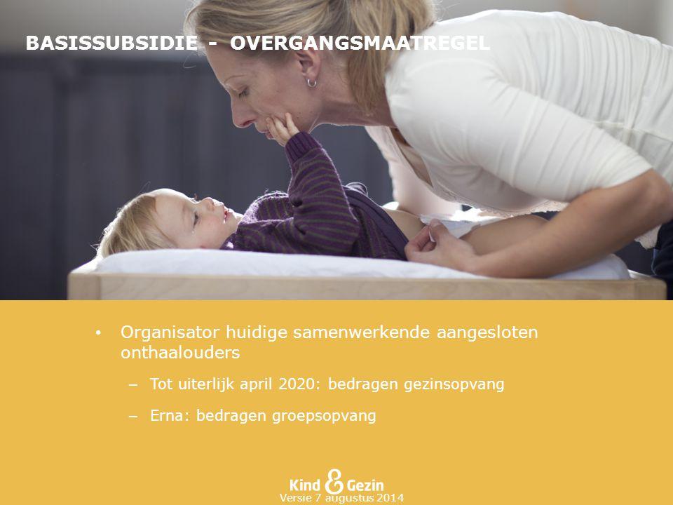 BASISSUBSIDIE - OVERGANGSMAATREGEL