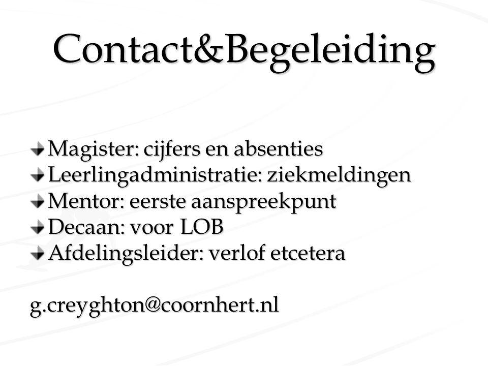 Contact&Begeleiding Magister: cijfers en absenties