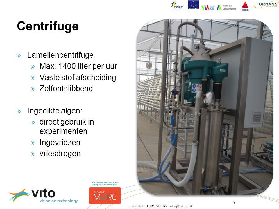 Centrifuge Lamellencentrifuge Max. 1400 liter per uur