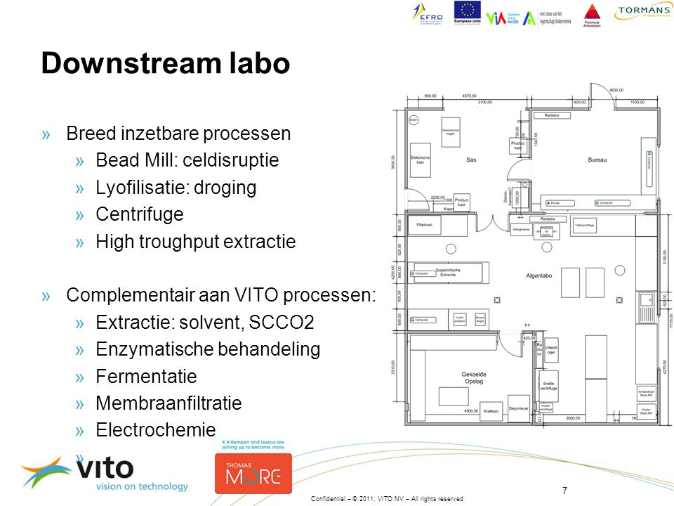 Downstream labo Breed inzetbare processen Bead Mill: celdisruptie