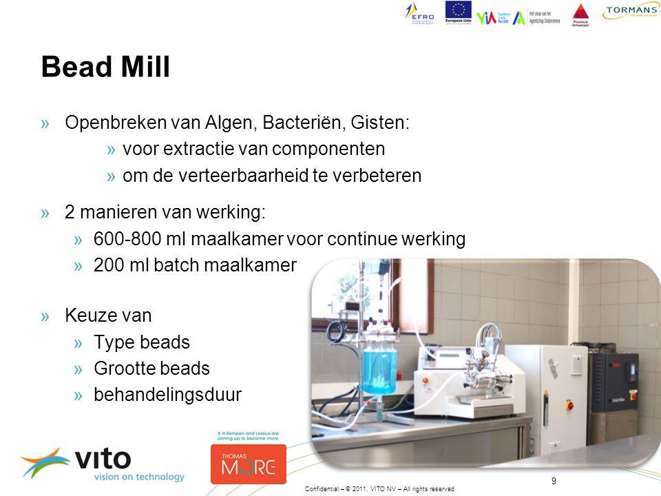 Bead Mill Openbreken van Algen, Bacteriën, Gisten: