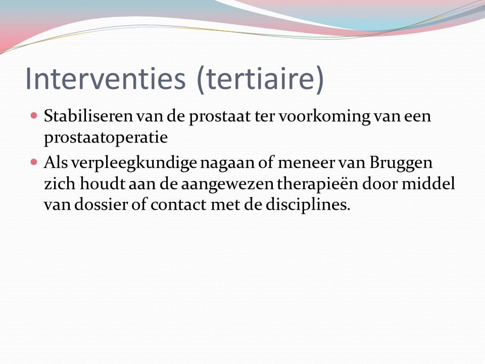Interventies (tertiaire)