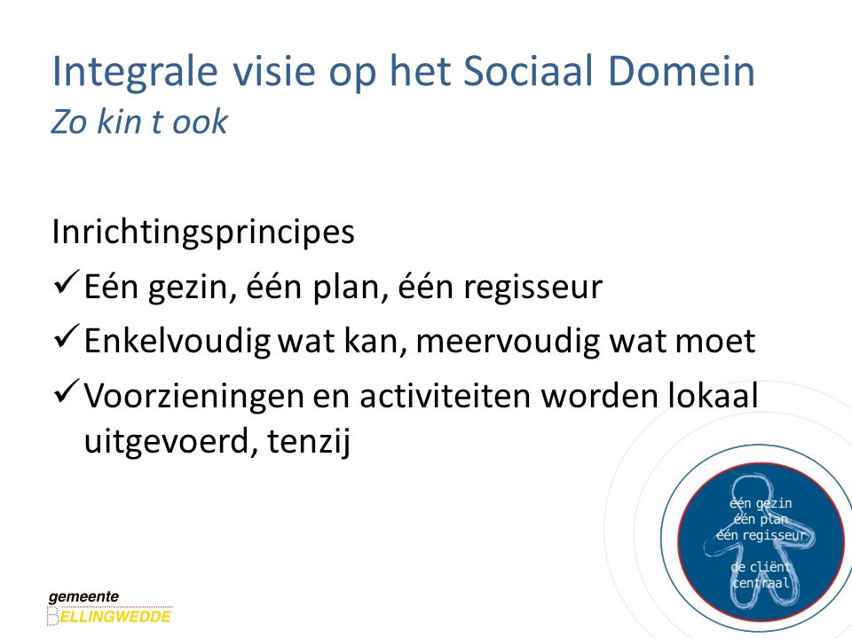 Integrale visie op het Sociaal Domein Zo kin t ook