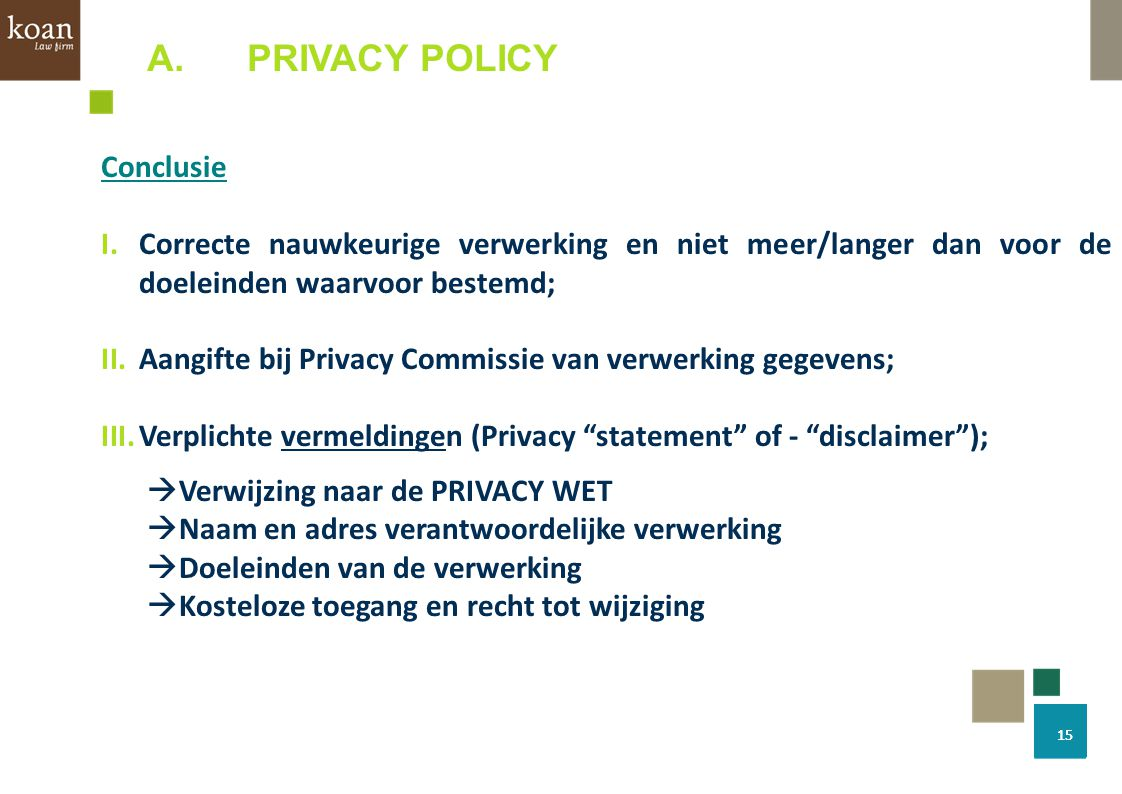 PRIVACY POLICY Conclusie