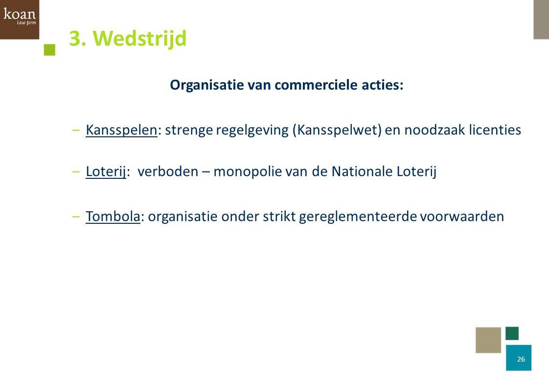 Organisatie van commerciele acties:
