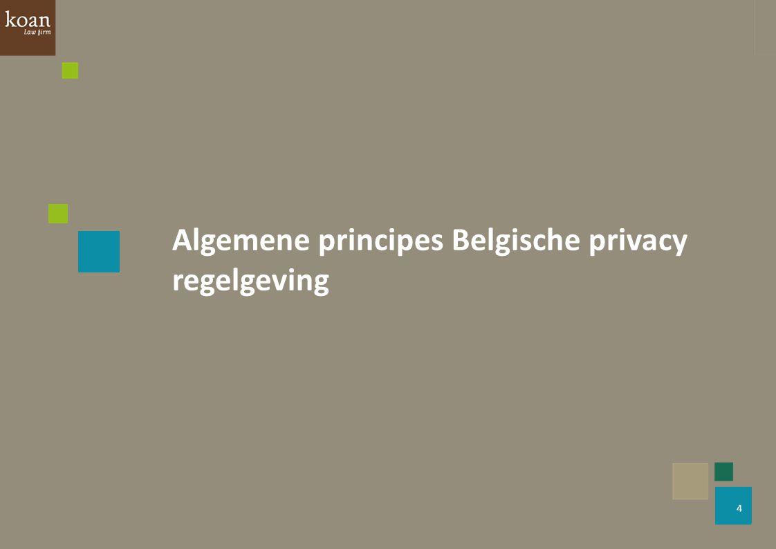 Algemene principes Belgische privacy regelgeving
