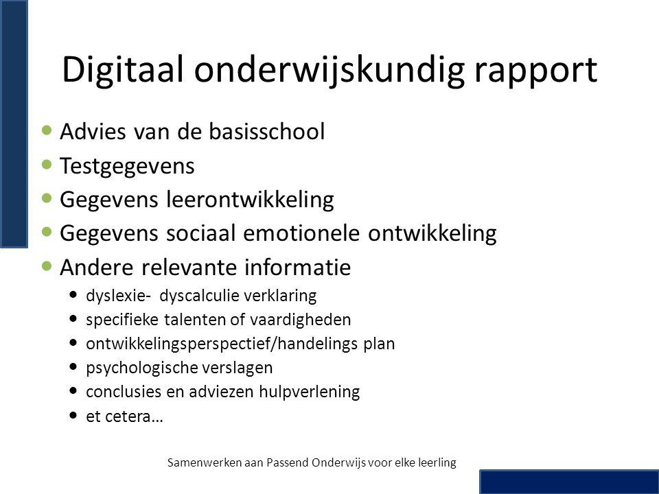 Digitaal onderwijskundig rapport