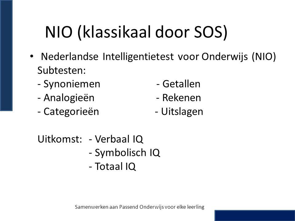NIO (klassikaal door SOS)