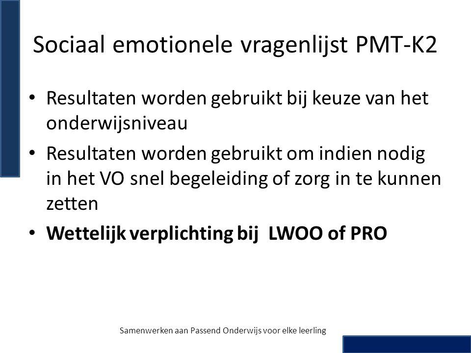 Sociaal emotionele vragenlijst PMT-K2