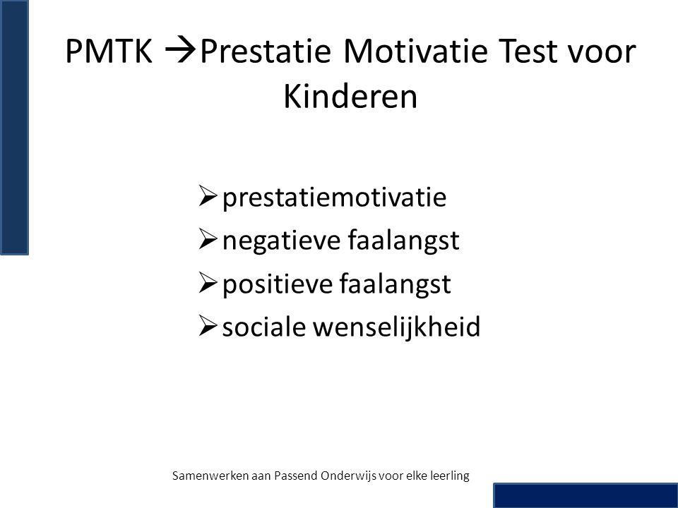 PMTK Prestatie Motivatie Test voor Kinderen