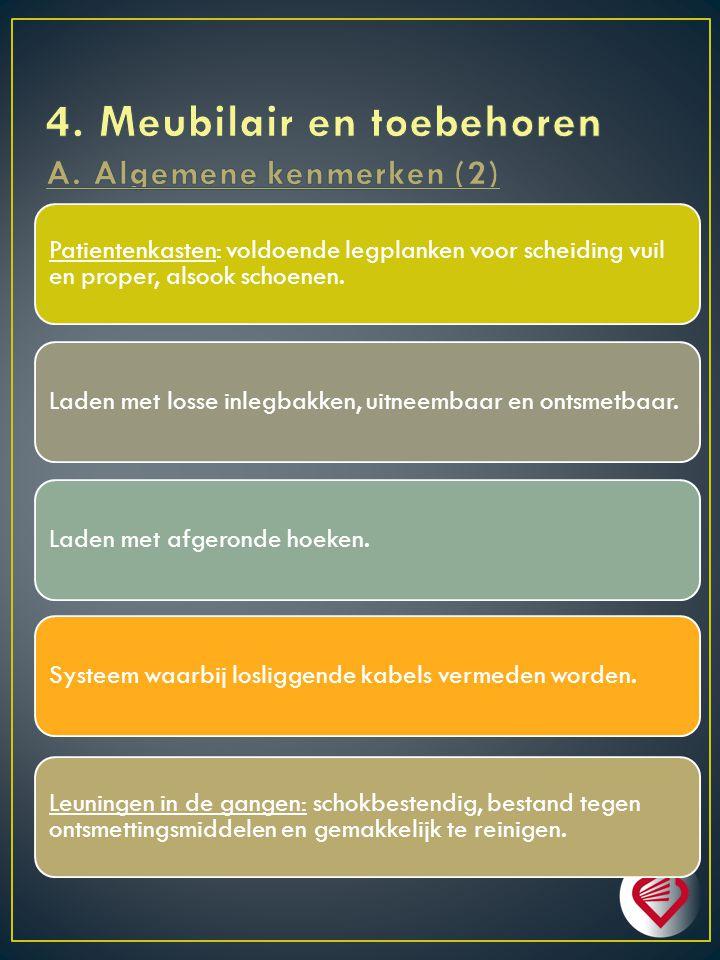 4. Meubilair en toebehoren A. Algemene kenmerken (2)