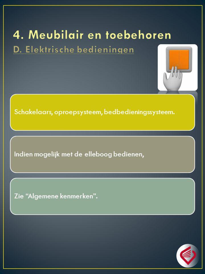 4. Meubilair en toebehoren D. Elektrische bedieningen