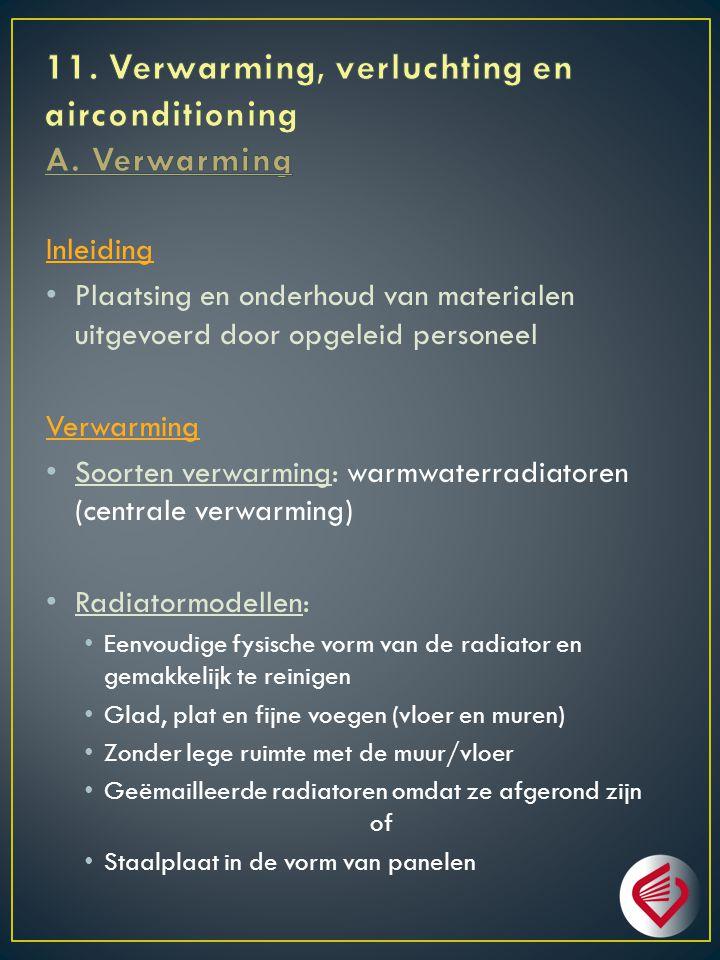 11. Verwarming, verluchting en airconditioning A. Verwarming