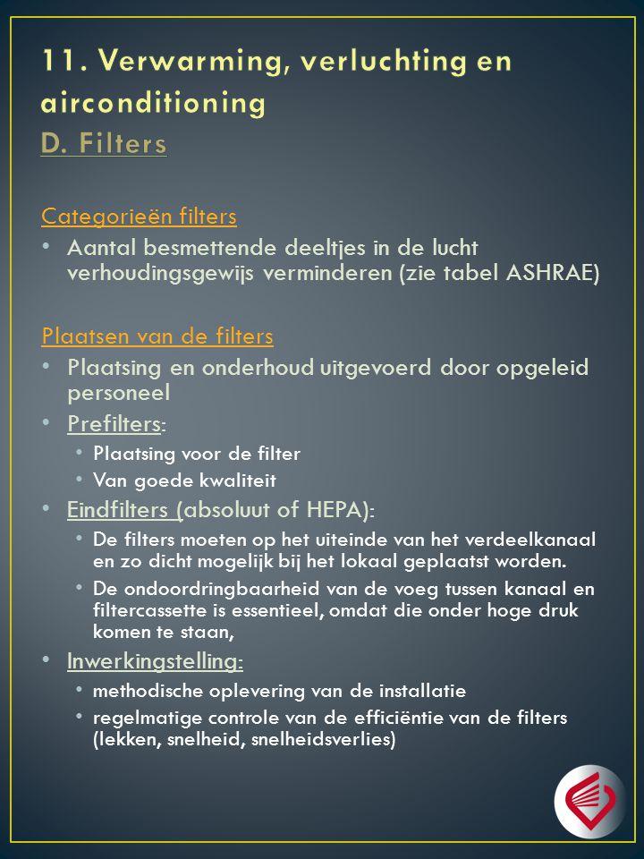 11. Verwarming, verluchting en airconditioning D. Filters