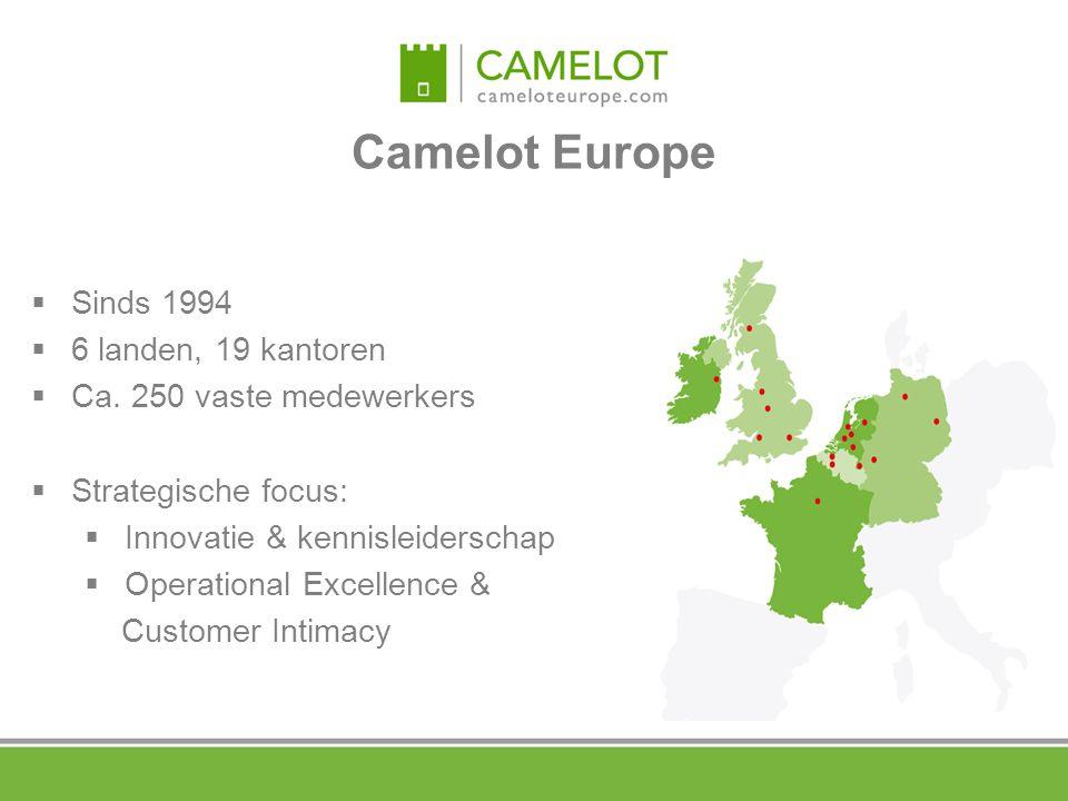 Camelot Europe Sinds 1994 6 landen, 19 kantoren