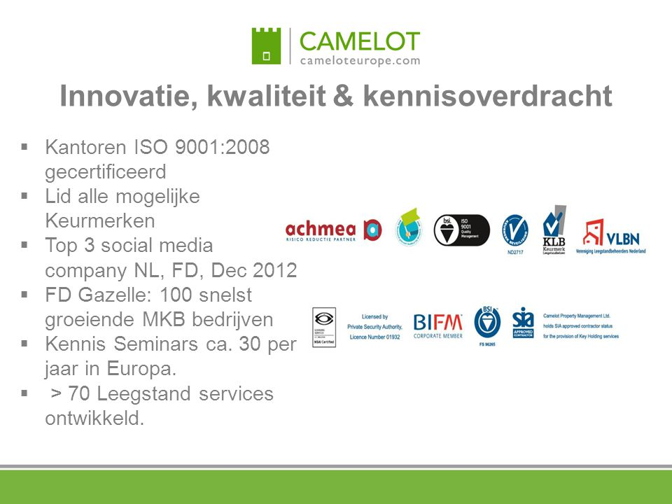 Innovatie, kwaliteit & kennisoverdracht