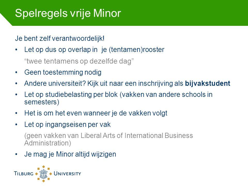 Spelregels vrije Minor