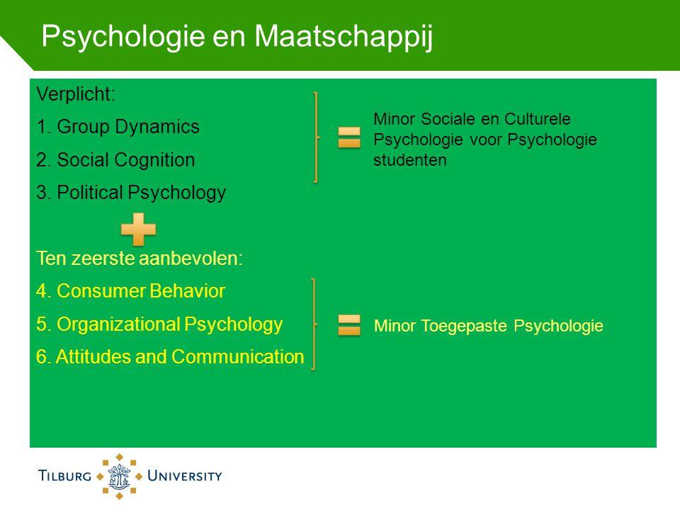 Psychologie en Maatschappij