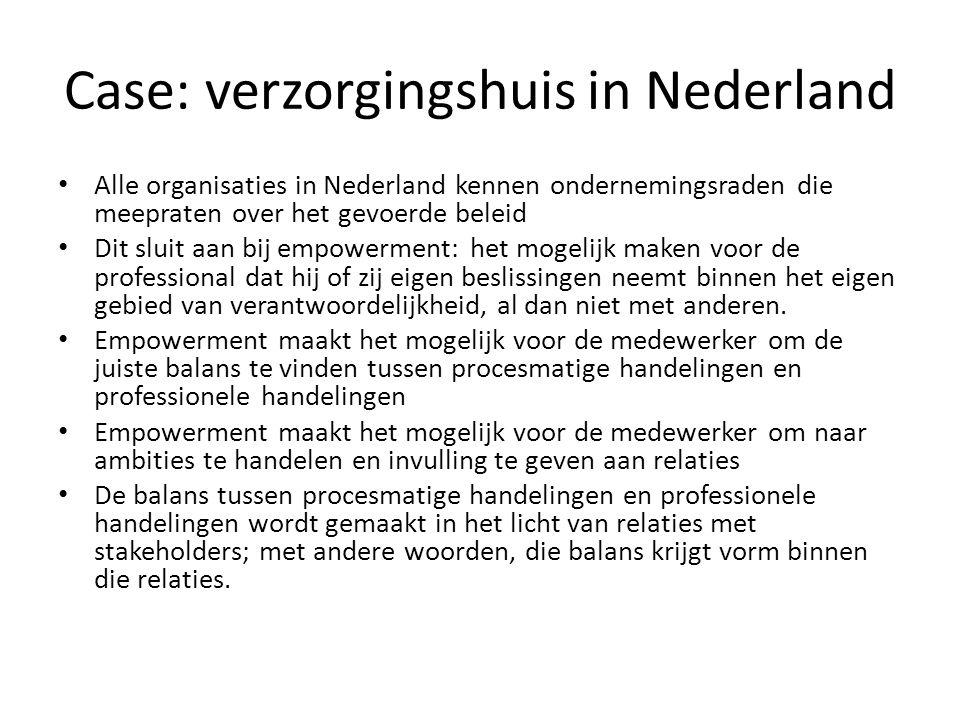 Case: verzorgingshuis in Nederland