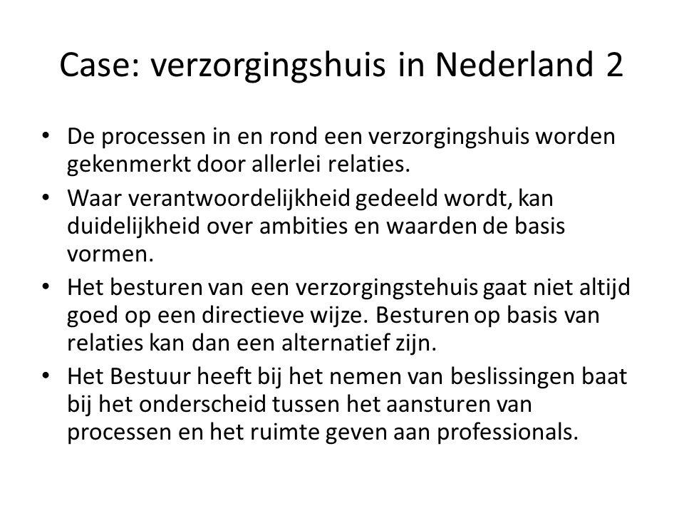 Case: verzorgingshuis in Nederland 2