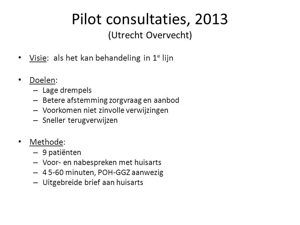 Pilot consultaties, 2013 (Utrecht Overvecht)