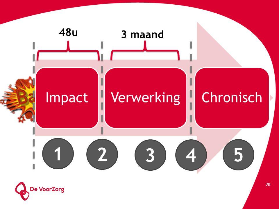 48u 3 maand Impact Verwerking Chronisch 1 2 3 4 5
