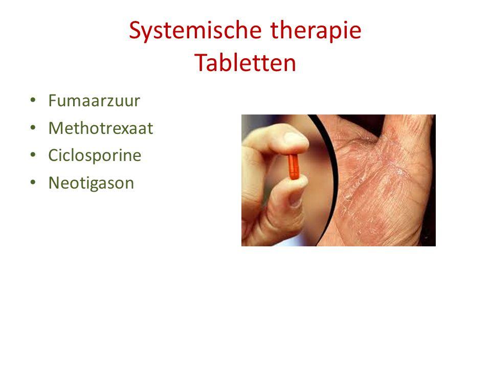 Systemische therapie Tabletten