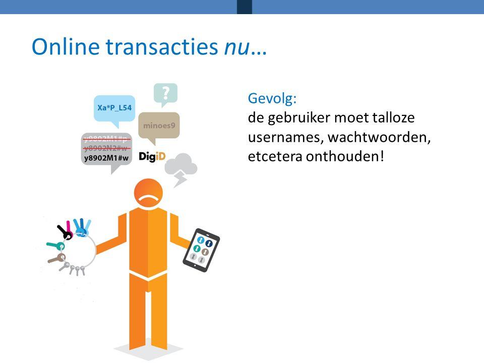 Online transacties nu…