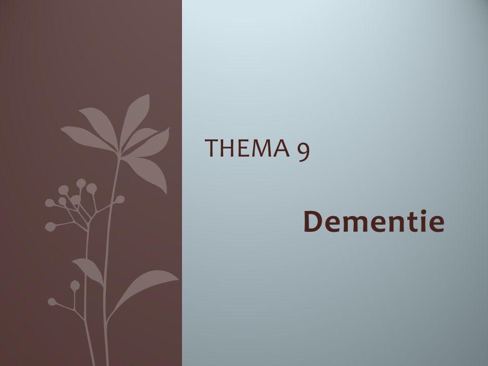 Thema 9 Dementie