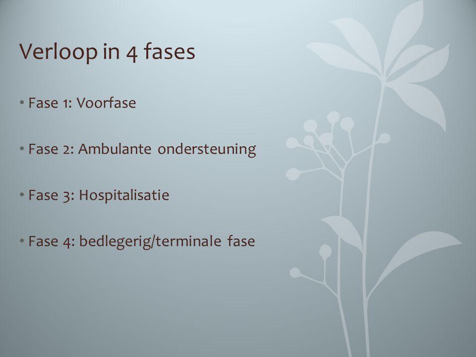Verloop in 4 fases Fase 1: Voorfase Fase 2: Ambulante ondersteuning