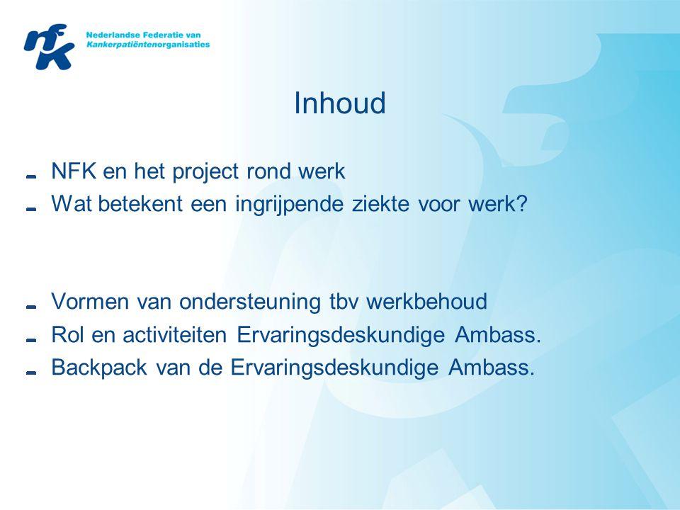 Inhoud NFK en het project rond werk