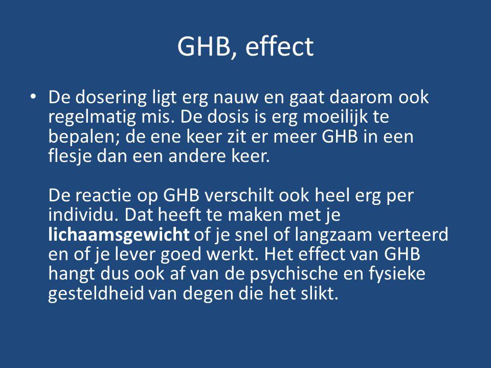 GHB, effect