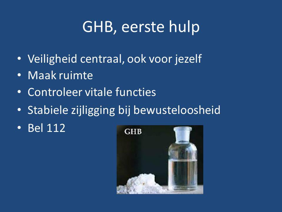 GHB, eerste hulp Veiligheid centraal, ook voor jezelf Maak ruimte