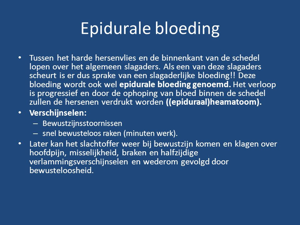 Epidurale bloeding
