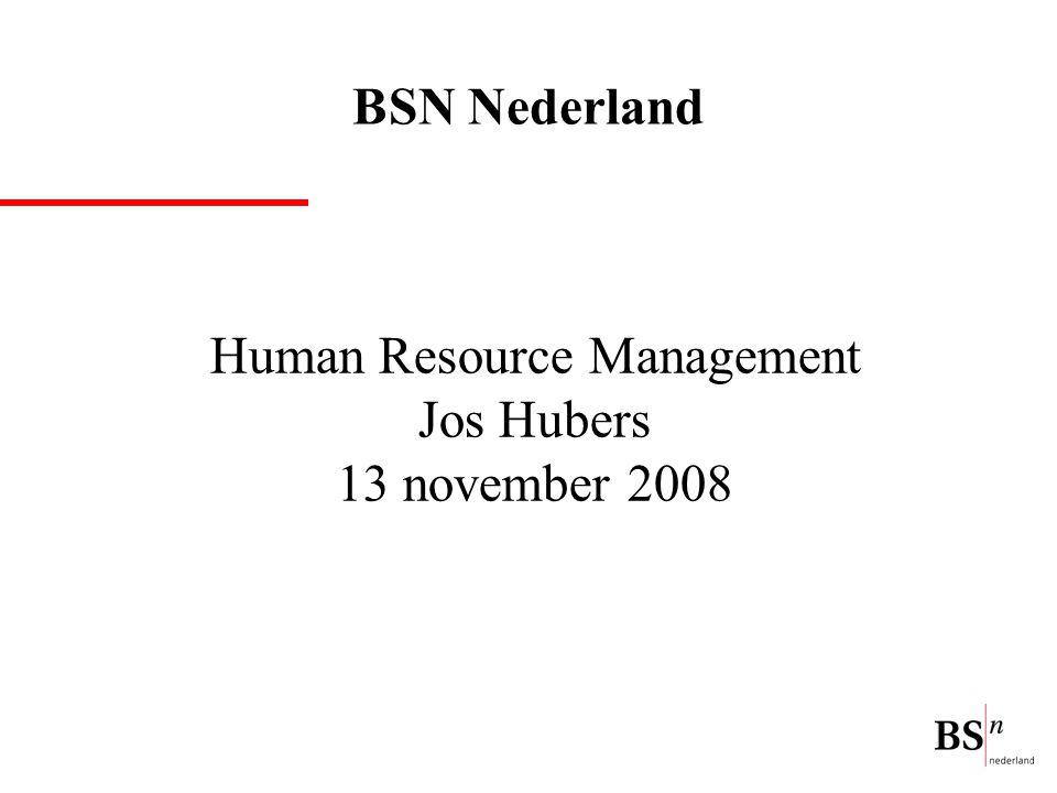 Human Resource Management Jos Hubers 13 november 2008