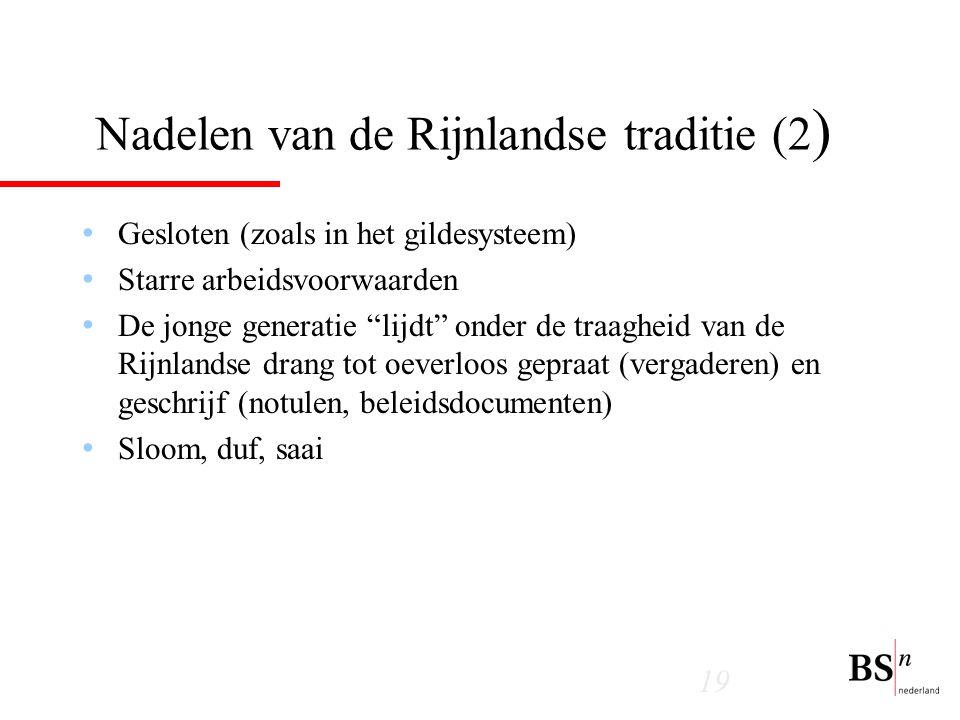 Nadelen van de Rijnlandse traditie (2)